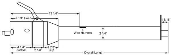 universal 33 tilt column shift steering column chrome part 1130330020