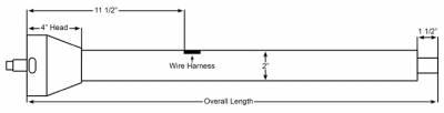 "ididit  LLC - 16"" Shorty Straight Floor Shift  Steering Column - Paintable Steel"