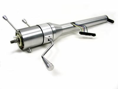 """ididit  LLC - 30"""" Tilt Column Shift Steering Column - Brushed"""