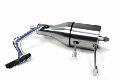 "ididit  LLC - 12"" Shorty Tilt Floor Shift Steering Column - Paintable Steel"