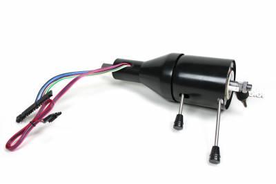 "ididit  LLC - 12"" Shorty Tilt Floor Shift Steering Column - Black Powder Coated"