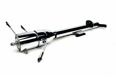 ididit  LLC - 1955-1956 Chevy Front Steer Rack Tilt Column Shift  Steering Column - Chrome