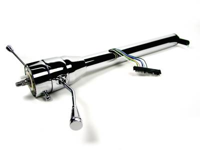 "ididit  LLC - 35"" Straight Column Shift Steering Column -  Chrome"