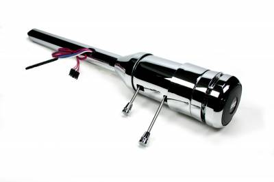 """ididit  LLC - 19 1/4"""" 9-bolt Tilt/Telescoping Floor Shift  Steering Column - Chrome"""