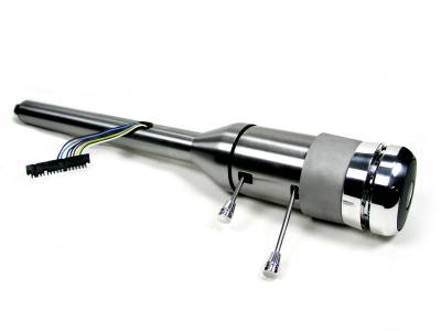 "ididit  LLC - 21 1/4"" 9-Bolt Tilt/Telescoping Column Shift Steering Column - Paintable Steel"