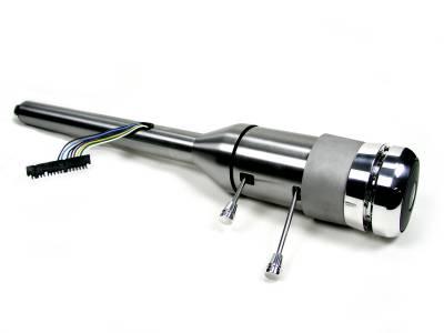 "ididit  LLC - 33 1/4"" 9-Bolt Tilt/Telescoping Column Shift Steering Column - Paintable Steel"