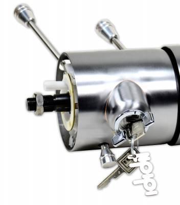 "ididit  LLC - 12"" Tilt Floor Shift Steering Column with id.CLASSIC Ignition - Paintable Steel"