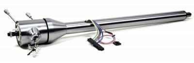 "ididit  LLC - 30"" Tilt Floor Shift Steering Column with id.CLASSIC Ignition - Paintable Steel"