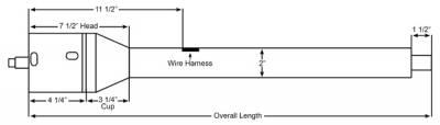 "ididit  LLC - 32"" Tilt Floor Shift Steering Column with id.CLASSIC Ignition - Black Powder Coated"