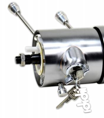"""ididit  LLC - 35 1/4"""" 9-bolt Tilt/Telescoping Floor Shift with id.CLASSIC Ignition - Paintable Steel"""