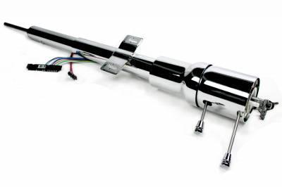 ididit  LLC - 1970-74 Cuda/Challenger Tilt Floor Shift Steering Column with id.CLASSIC Ignition - Chrome