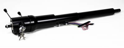 ididit  LLC - 1970-75 Camaro Tilt Floor Shift Steering Column with id.CLASSIC Ignition - Black Powder Coated