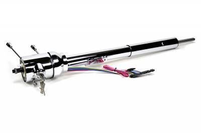 ididit  LLC - 1973 Chrysler Tilt Floor Shift Steering Column with id.CLASSIC Ignition - Chrome