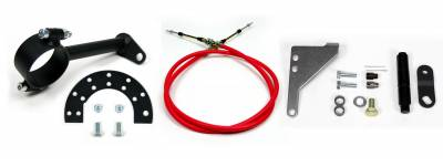 "ididit  LLC - Cable Shift Linkage-2 1/4"" Ford column - 4R70W/AODE Transmission"