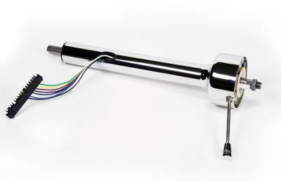 "ididit  LLC - 16"" Shorty Straight Classic Floor Shift Steering Column - Chrome"