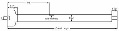 "ididit  LLC - 35"" Straight Classic Floor Shift Steering Column - Black Powder Coated - Image 2"