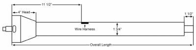 """ididit  LLC - 30"""" Straight Floor Shift Steering Column - Polished Aluminum - Image 2"""