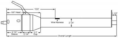 """ididit  LLC - 33"""" Tilt Column Shift Steering Column - Brushed - Image 2"""