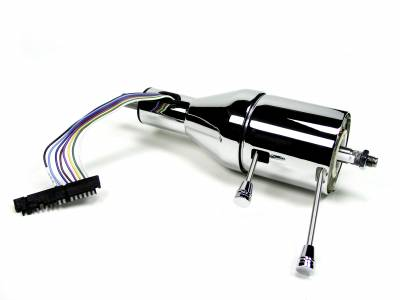 "ididit  LLC - 16"" Shorty Tilt Floor Shift Steering Column - Chrome"