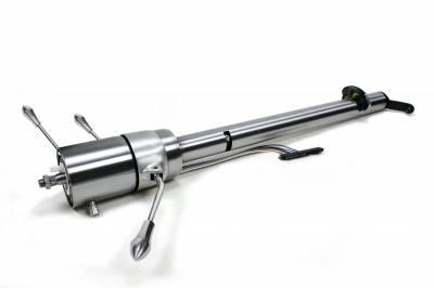 Retrofit Columns - Tilt Column Shift - ididit  LLC - 1957 Chevy Tilt Column Shift  Steering Column - Paintable Steel