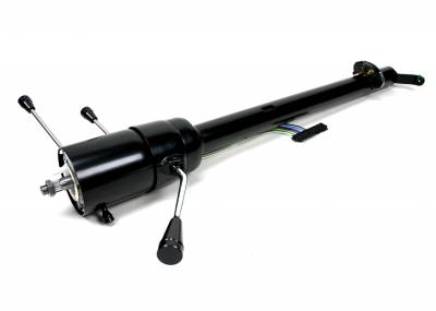 ididit  LLC - 1960-66 Chevy Truck Tilt Column Shift with Rack - Black Powder Coated