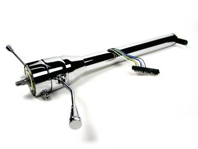 "ididit  LLC - 28"" Straight Column Shift Steering Column - Black Powder Coated"