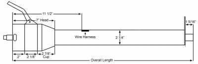 "ididit  LLC - 33"" Straight Column Shift Steering Column - Chrome - Image 2"