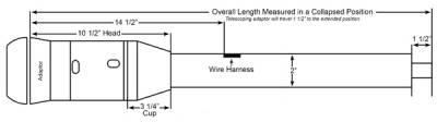 "ididit  LLC - 21 1/4"" 9-Bolt Tilt/Telescoping Column Shift Steering Column - Black - Image 2"