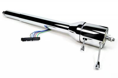 "Universal Columns - Collapsible - Floor Shift - ididit  LLC - 35"" Collapsible Floor Shift Steering Column - Chrome"