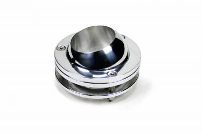 "Accessories - Floor Mounts - ididit  LLC - Floor Mount Swivel Ball Polished 2 1/4"""