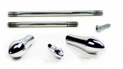 Accessories - Knobs, Levers & Shift Arms - ididit  LLC - Dress-up Kit Tilt/Tele RETRO Chrome