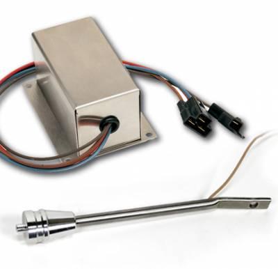 Wiper Kit - Turn Signal Lever Brushed Aluminum