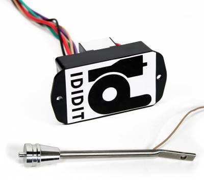 Accessories - Dimmer & Wiper Kits - ididit  LLC - Dimmer Kit - Turn Signal Lever Brushed Aluminum
